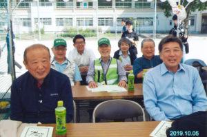 美鈴が丘小学校運動会の運営スタッフと写真