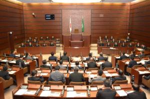 広島市議会にて高校生提案発表